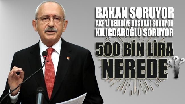 Kılıçdaroğlu: Serik Belediyesinin halka ait plajların açılmaması için aldığı 500 bin lira nerede