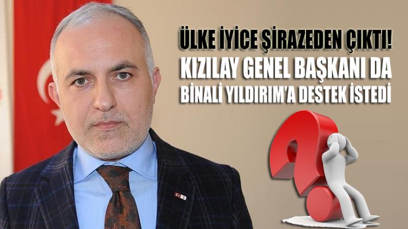 Kızılay Genel Başkanı da Binali Yıldırım'a oy istedi!