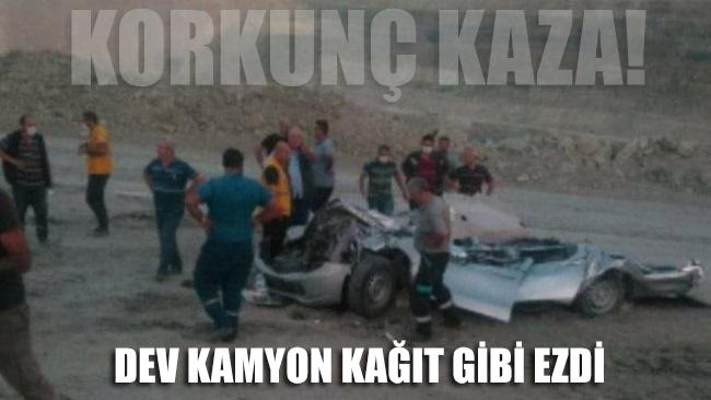 Korkunç kaza! Dev kamyon kağıt gibi ezdi: 1 ölü