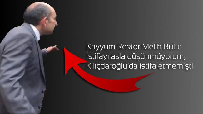 Melih Bulu: İstifayı asla düşünmüyorum; Kılıçdaroğlu da istifa etmemişti