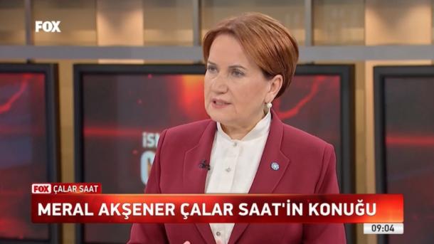 Meral Akşener'den FOX TV'de önemli açıklamalar