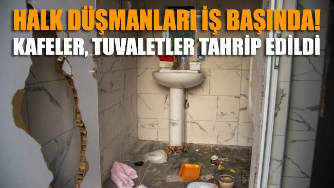 Mersin'de tuvalet vandallığı