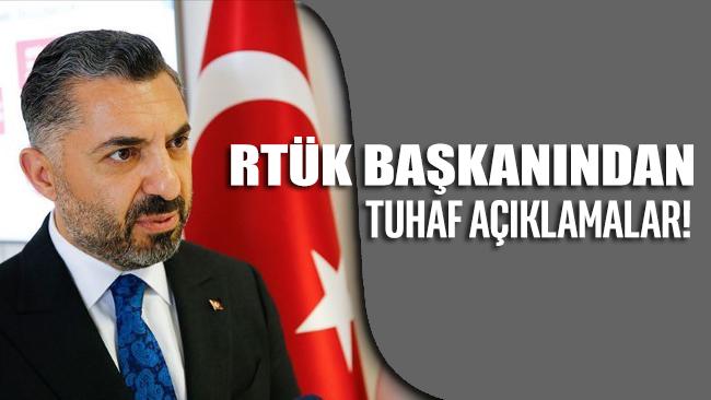 RTÜK Başkanı Ebubekir Şahin'den tuhaf açıklamalar!