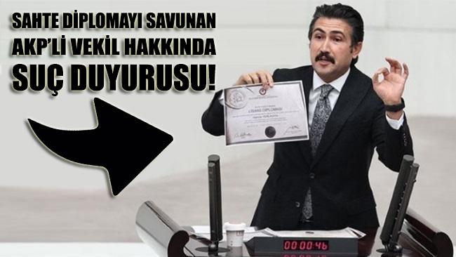 'Sahte diplomayı' savunan AKP'li Cahit Özkan hakkında suç duyurusu