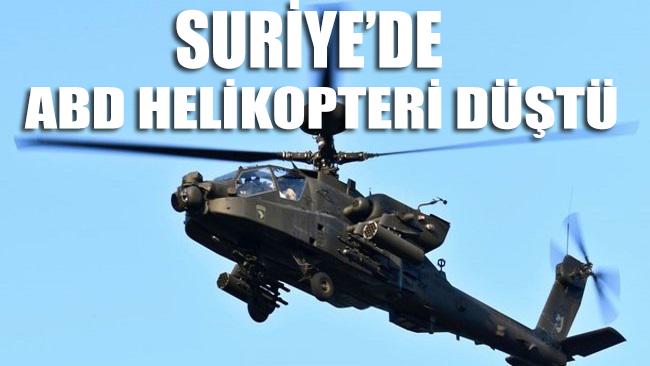 SANA: Suriye'nin kuzeyinde ABD helikopteri düştü