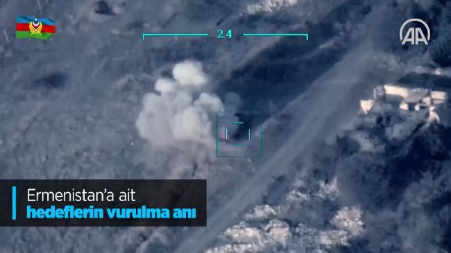 SON DAKİKA! Azerbaycan-Ermenistan savaşında Ermenistan'a ait tankların vurulma anına ait VİDEO GÖRÜNTÜLERİ
