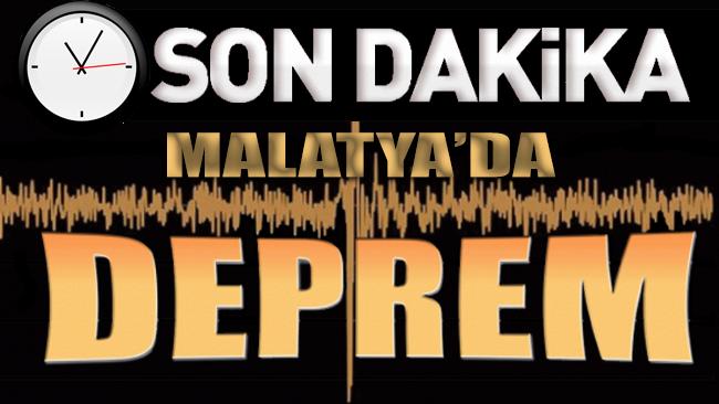 SON DAKİKA... Malatya'da korkutan deprem