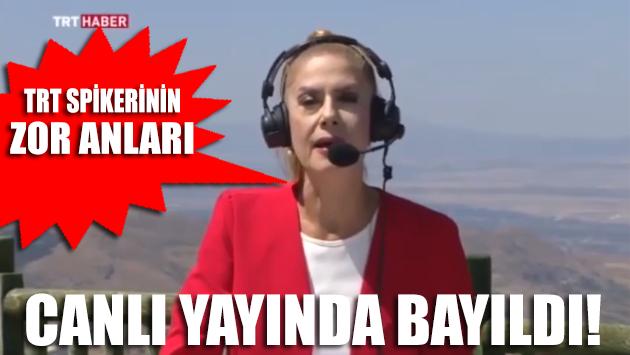 Su isteyen TRT spikeri canlı yayında bayıldı!