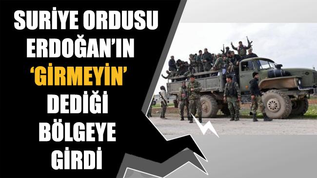 Suriye ordusu Erdoğan'ın
