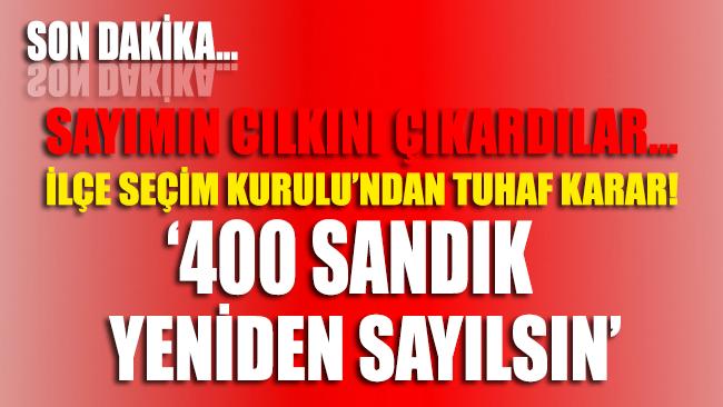 Türk Milleti ve Dünya İbretle İzliyor: Maltepe'de sayım yine durdu!