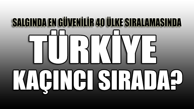 Türkiye coronaya karşı en güvenli ilk 40 ülke arasında kaçıncı sırada