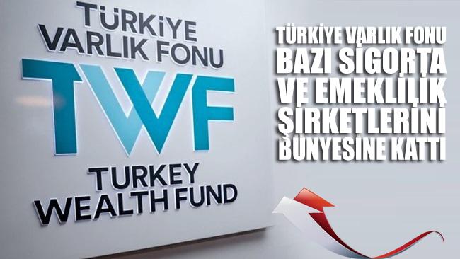 Türkiye Varlık Fonu bu kez bazı sigorta ve emeklilik şirketlerini bünyesine kattı