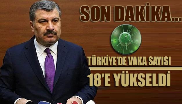 Türkiye'deki coronavirüs vaka sayısı 18'e yükseldi!