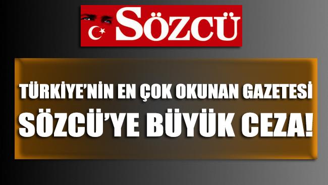 Türkiye'nin en çok okunan gazetesi Sözcü'ye büyük vergi cezası