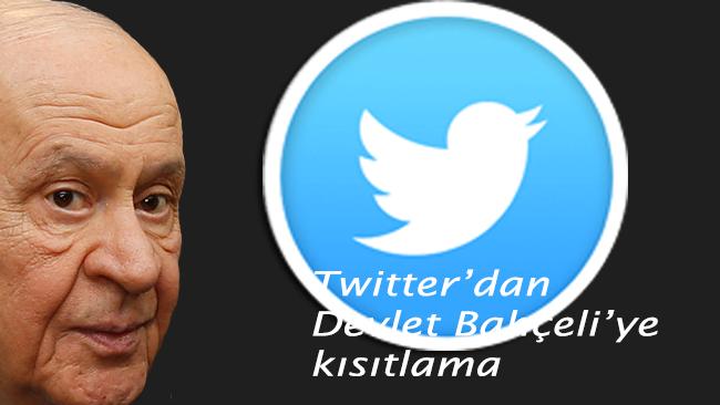 Twitter'dan Devlet Bahçeli'ye kısıtlama