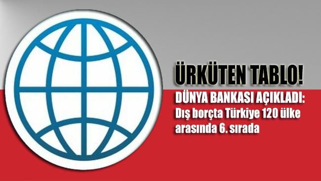 Ürküten tabloyu Dünya Bankası açıkladı: Dış borçta Türkiye 120 ülke arasında 6. sırada