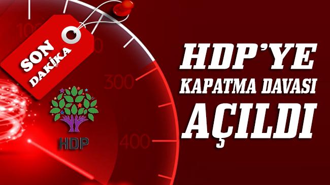 Yargıtay Cumhuriyet Başsavcısı, HDP'nin kapatılması için AYM'ye iddianame sundu