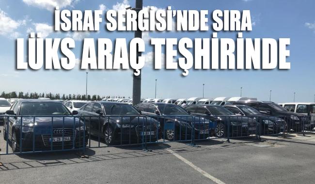 Yenikapı'daki 'israf sergisi'nin ikinci gününde lüks araçlar da gelmeye başladı