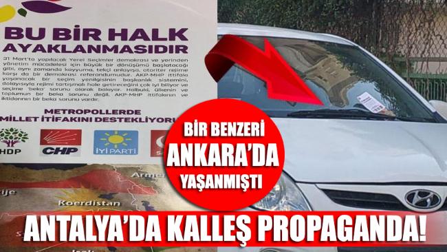 Anlatya'da kalleş propaganda: Sözde Kürdistan haritası!