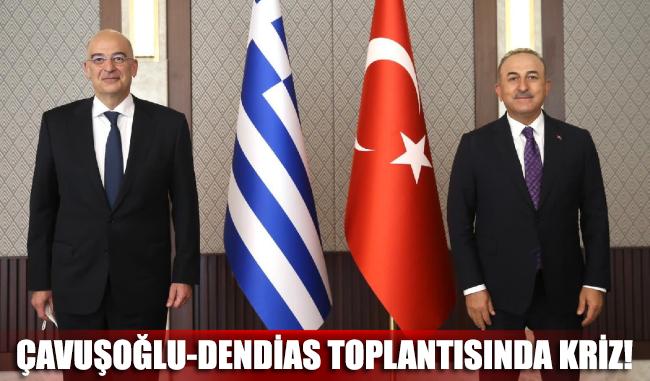 Çavuşoğlu-Dendias toplantısında kriz!