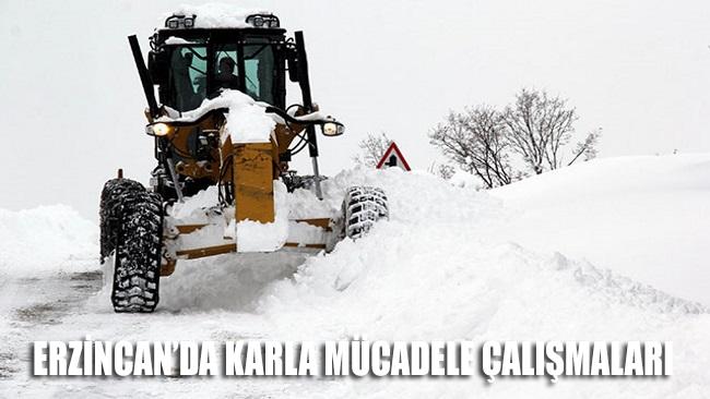 Erzincan'da karla mücadele çalışmaları