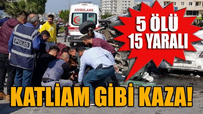 Hatay'da freni boşalan TIR, çok sayıda aracı ezdi geçti: 5 ölü, 15 yaralı!