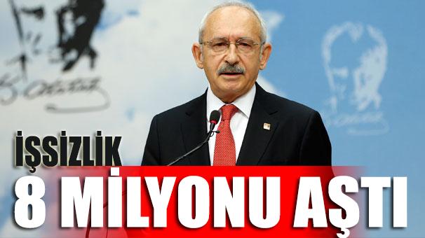 Kılıçdaroğlu: İşsizlik 8 milyonu aştı