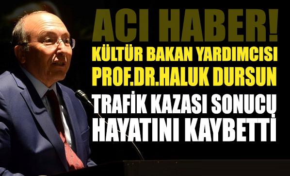 Kültür Bakan Yardımcısı Prof. Dr. Haluk Dursun kazada hayatını kaybetti