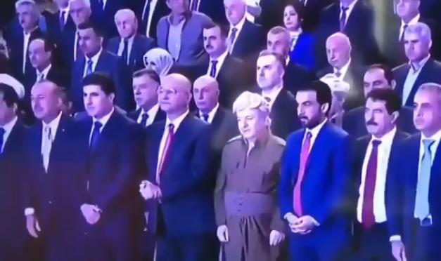 Mevlüt Çavuşoğlu Barzani'nin 'Kürdistan Şehitleri' töreninde saygı duruşunda bulundu!