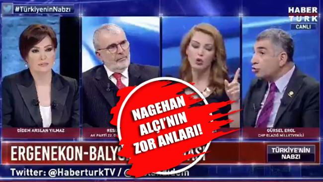 Nagehan Alçı'nın CHPli Gürsel Erol'un kaşısındaki zor anları!