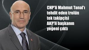 CHP'li Mahmut Tanal'ı tehdit eden trolün tek takipçisi AKP'li başkanın yeğeni çıktı