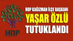 HDP Kağızman İlçe Başkanı Yaşar Özlü tutuklandı