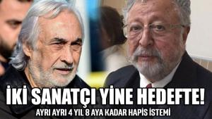 Müjdat Gezen ve Metin Akpınar'a 'Cumhurbaşkanına alenen hakaret' suçundan dava açıldı
