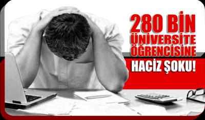 280 bin üniversite öğrencisine haciz şoku