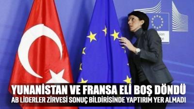 AB liderleri Türkiye'ye yaptırım kararı almadı