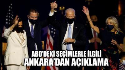 ABD'deki seçimlerle ilgili Ankara'dan ilk açıklama geldi