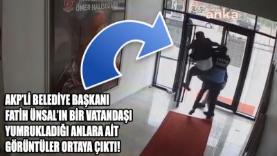 AKP'li belediye başkanının bir vatandaşı yumrukladığı anlara ait video görüntüleri ortaya çıktı!