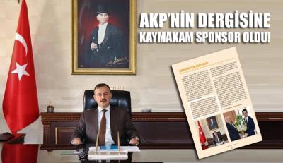AKP'nin dergisine Pasinler Kaymakamı Kadir Perçi sponsor oldu