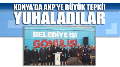 AKP'nin kalesi Konya'da büyük tepki! Yuhalayıp konuşturmadılar