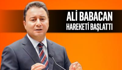 Ali Babacan, hareketi başlatmak için çalışmalara başladı