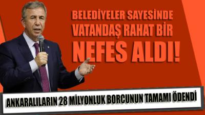 Ankaralıların 28 milyonluk borçlarının hepsi ödendi