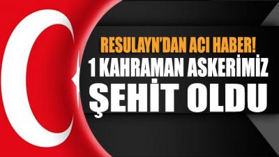 Barış Pınarı Harekatı bölgesinden acı haber: 1 Askerimiz şehit oldu