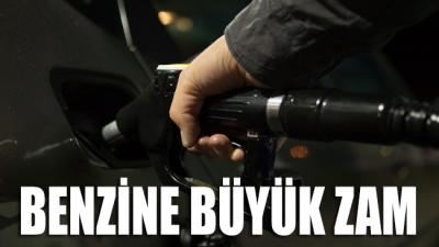 Benzine büyük zam