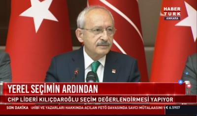 CHP Lideri, basın toplantısında '31 Mart Yerel Seçim' sonuçlarını değerlendirdi