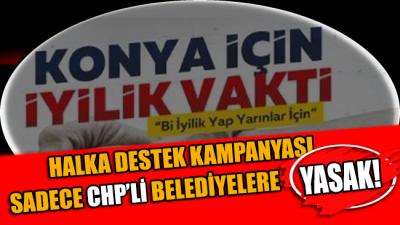 CHP'li belediyeleri suçluyorlardı AKP'li belediye de yardım toplamış