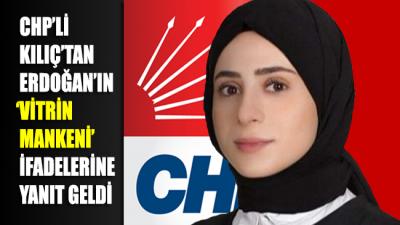 CHP'li Kılıç'tan Erdoğan'ın 'vitrin mankeni' ifadelerine yanıt geldi