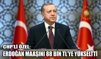 CHP'li Özel: Erdoğan maaşını 88 bin TL'ye yükseltti