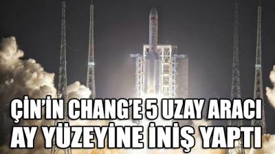 Çin Ulusal Uzay İdaresi duyurdu: Çin'in Chang'e-5 uzay aracı Ay'a iniş yaptı