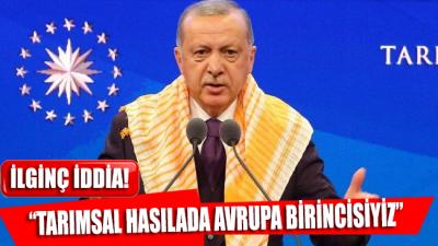 Cumhurbaşkanı Erdoğan, 3.Türkiye Tarım Orman Şurası'nda konuştu