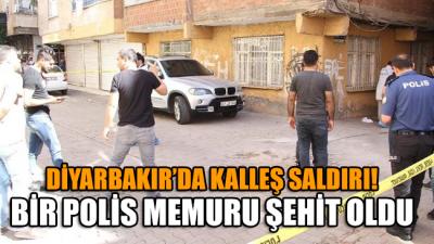 Diyarbakır'da kalleş saldırı… Bir polis memuru şehit oldu